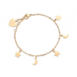 Bracciale donna Luca Barra con stelle e lune