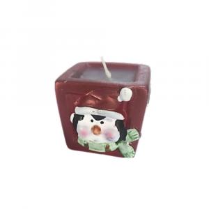 Candela ceramica vasetto con pinguino Natale