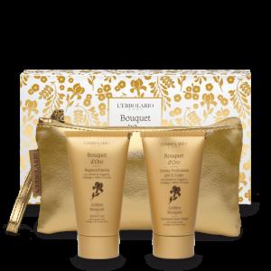 Bouquet d'Oro Beauty: Bagnoschiuma da 75 ml Crema Profumata per il Corpo da 75 ml Ed.Lim 1 pz