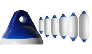 Parabordo Majoni bianco con testa blu F1 150X580