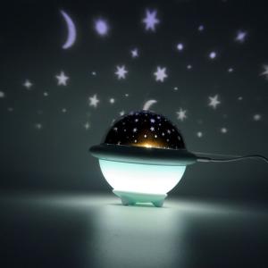 Lampada notte Ufo celeste 3 film 3 colori bambino