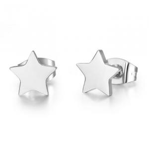 Luca Barra - Orecchini in acciaio con stelle