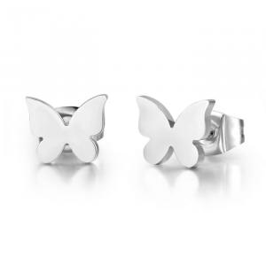 Luca Barra - Orecchini in acciaio con farfalle