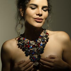 Collana gioiello multicolor