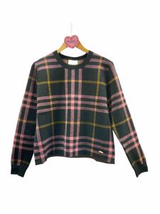 Maglia tricot quadri
