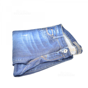 Jeans Woman Guess Size 25 With Strass Sulle Pockets Front