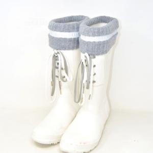 Boots Woman Pioggia Bikkembergs White N° 40