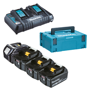 197626-8 MAKITA KIT ENERGY 4x 18V 5Ah + caricabatterie DOPPIO rapido