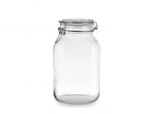 Vaso barattolo in vetro 2 litri con guarnizione