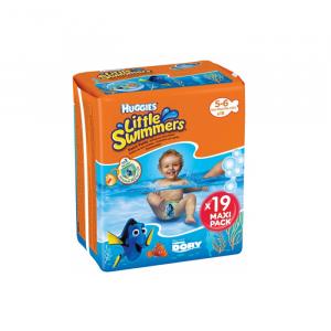 Huggies Little Swimmers Pannolino Costumino Taglia 5-6 19 Unità