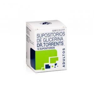 Supositorios Glicerina Dr. Torrents Adultos 12 Supositorios