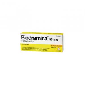 Biodramina 50mg 4 Comprimidos