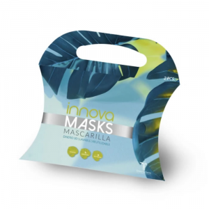 Innovafarm Washable Reusable Mask Black  Set 2 Pieces