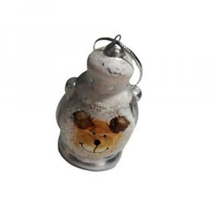 Decorazione natalizia lanterna con orsetto