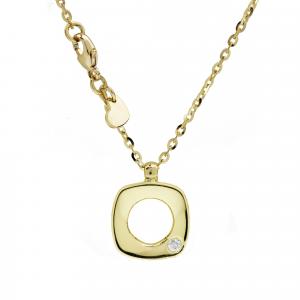 Collana Oro 18kt   Prestige con Diamante