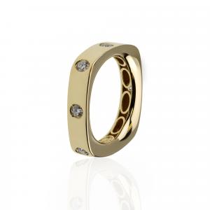 Anello Oro 18kt con Diamanti
