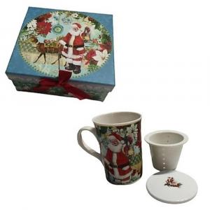 Tazza teiera con scatola regalo Babbo Natale