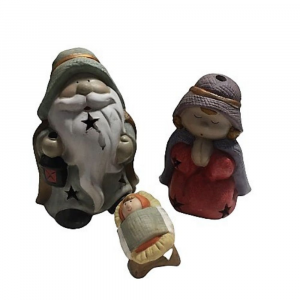 Presepe sacra famiglia in ceramica