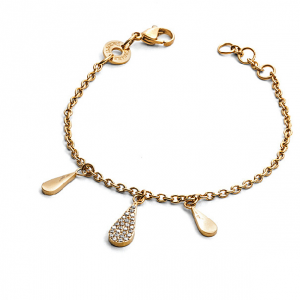 Bracciale donna For Us Cesare Paciotti Jewels. Gold Water.