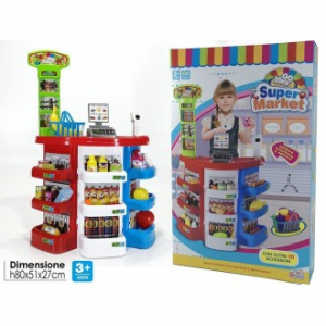 General Trade Mini Supermarket Supermercato Bambini Con Luci e Suoni Banco Con Accessori