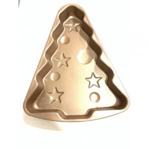 Stampo Dolce Albero Di Natale in Acciaio Color Oro