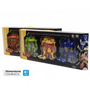 General Trade Set 3 Robot Domination Colori Assortiti Robot Bambini Giocattolo