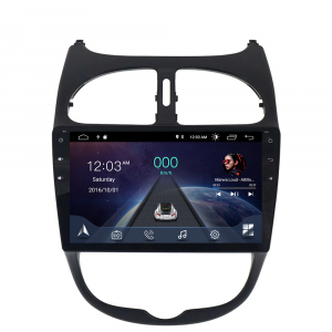 ANDROID 10 autoradio navigatore per Peugeot 206 2008-2008 GPS USB WI-FI Bluetooth Mirrorlink