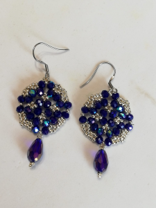 Orecchini blu e argento | bigiotteria artigianale vendita online