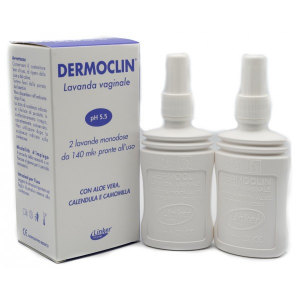 Dermoclin Linea Igiene Intima Lavanda Vaginale con pH 5.5 2 Flaconi da 140 ml