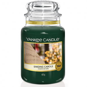 Candela Yankee Candle giara grande Singing Carols