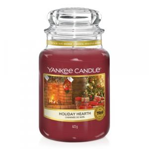 Candela Yankee Candle giara grande Holiday Hearth