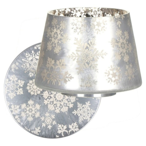 set paralume e piatto Yankee Candle Snowflake Frost