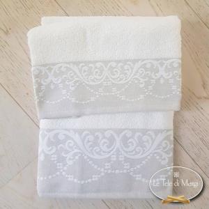 Asciugamani Jacquard Bianco
