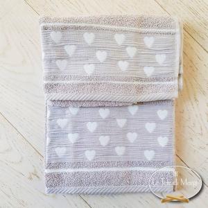 Asciugamani Cuoricini Tortora