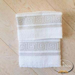 Asciugamani Greca bianco