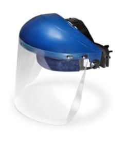 Visiera di protezione in policarbonato trasparente completa di semicalotta Orma