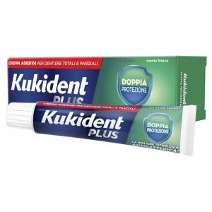 Kukident Plus Doppia Protezione Crema adesiva con antibatterico (40 g)