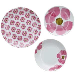 Set Tavola 18 Pz Rose & Tulipani linea Gallipoli