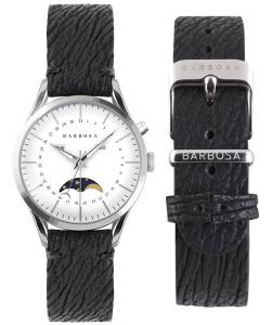 Orologio Barbosa con fasi lunari e cinturino in pelle