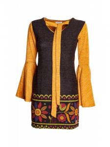 Abito etnico corto invernale | Abbigliamento etnico donna online