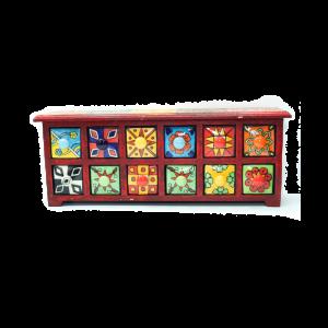 Porta Spezie India Orizzontale - 12 cassetti