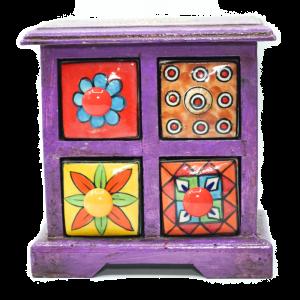 Porta Spezie India Verticale - 4 cassetti