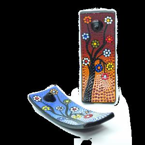 Porta Incenso in Terracotta a Barchetta - varianti