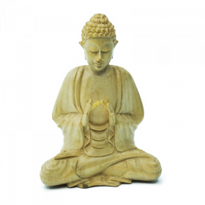 Statuetta Legno Suar con Posizione