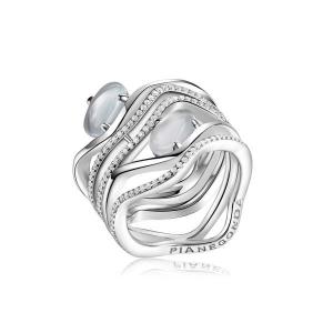 Anello PIANEGONDA collezione ANGUIS in argento 925/°°