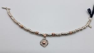 Bracciale DoDo Mariani con inserti e sigillo stella in oro rosso, vendita on line | OREFICERIA BRUNI Imperia