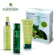 Rene Furterer Cofanetto Naturia Shampoo + Spray districante + Style Gloss Spray  Uso frequente.