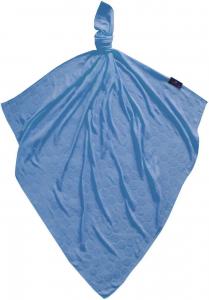 Telo multiuso - mussola in bamboo 100 % - 75x75 - Favi - BLUE