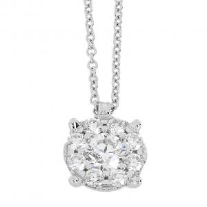 Collana Oro 18kt Diamanti ct.0,14