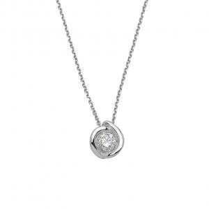 Collana Donna Oro 18kt ct.0,15 Prestige
